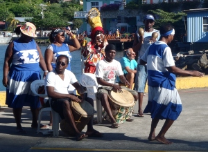 Caribbean Band welcoming tourist.